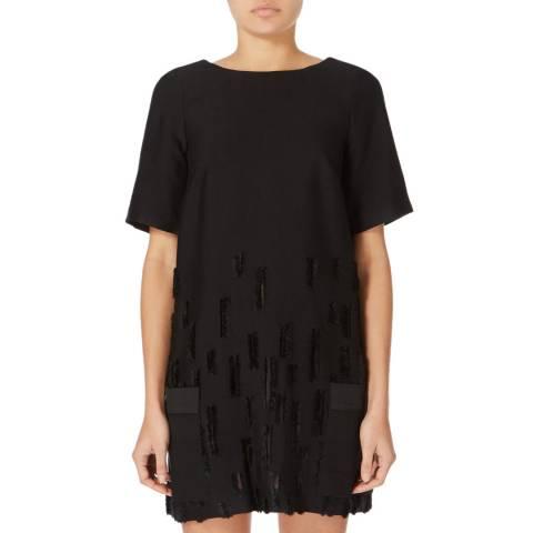 Amanda Wakeley Black Dial Cut Tunic Dress