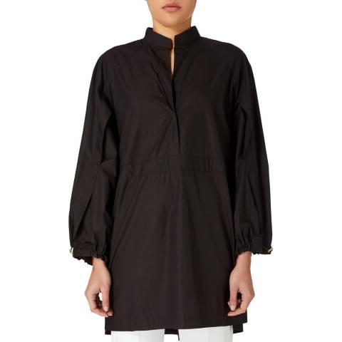 Amanda Wakeley Black Drawcord Cotton Shirt