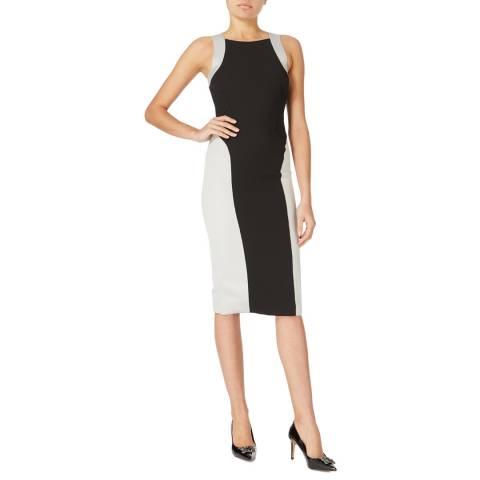 Amanda Wakeley Grey Flash Cut Out Satin Dress