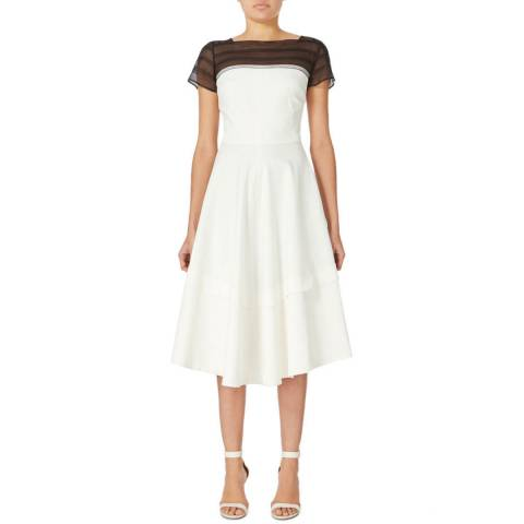 Amanda Wakeley Ecru Harmony Soft Tailored Dress