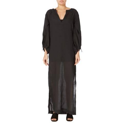 Amanda Wakeley Black Lyrical Linen Voile Dress