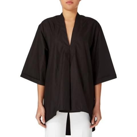 Amanda Wakeley Black Oversized Cotton Shirt
