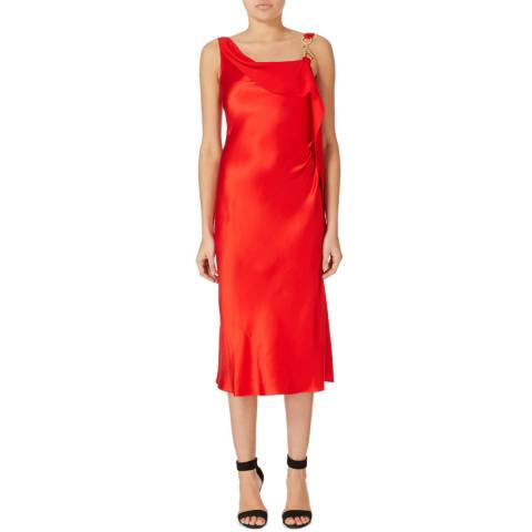 Amanda Wakeley Red Asayva Silk Satin Dress