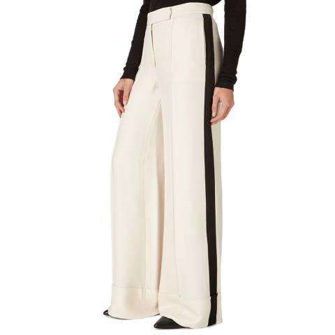 Amanda Wakeley Cream Relaxed Wide Leg Trousers