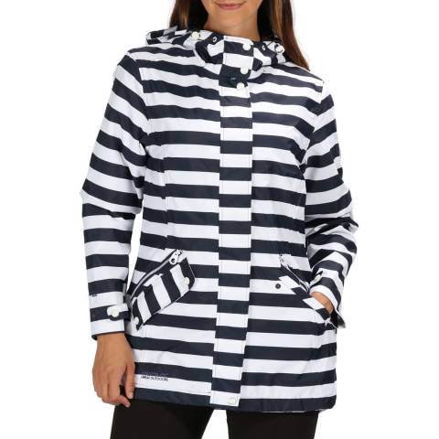 Regatta Navy Stripe Basilia Waterproof Shell Jacket