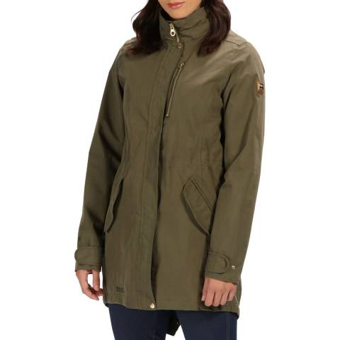 Regatta Khaki  Leaf Alzea Waterproof Shell Jacket