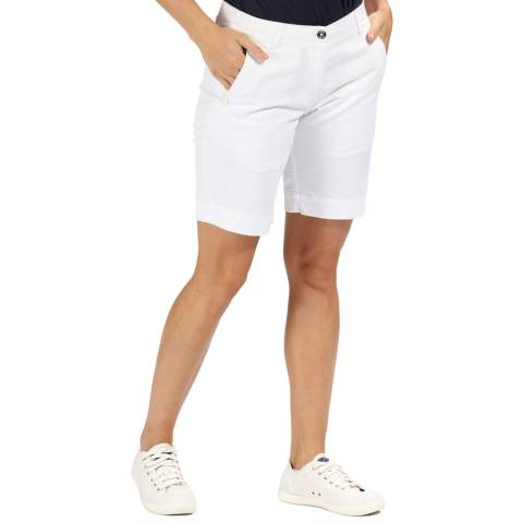 Regatta White Solita Cotton Shorts