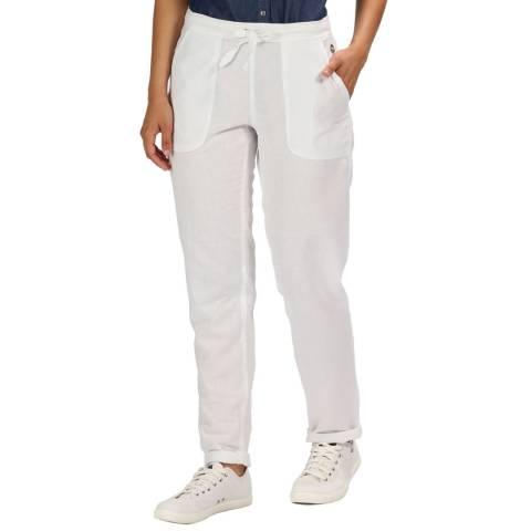 Regatta White Linen Trousers