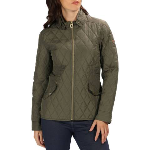 Regatta Khaki Leaf Cressida Baffled/Quilted Jackets