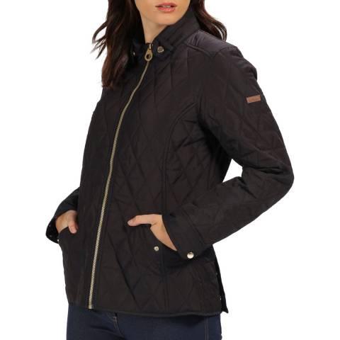 Regatta Black Cressida Baffled/Quilted Jacket