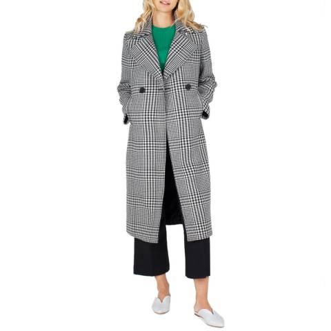 Grace & Oliver Black/ White Check Wool Blend Emmeline Coat