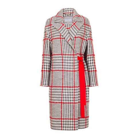 Grace & Oliver Grey/ Red Check Wool Blend Cordelia Coat