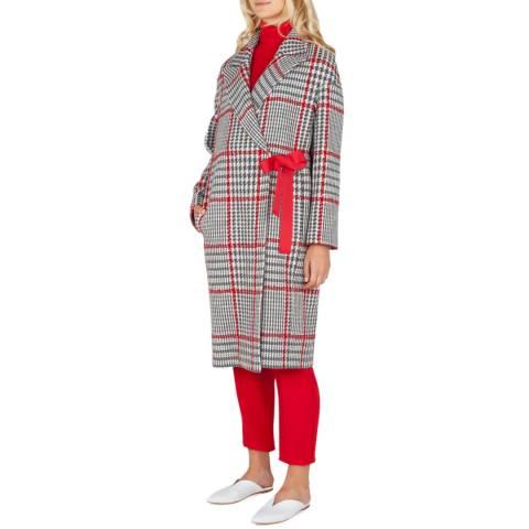 Grace & Oliver Grey/ Red Check Wool Blend Cordelia Coat