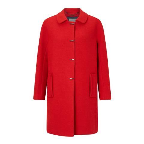Grace & Oliver Red Wool Blend Astrid Trimmed Cocoon Coat
