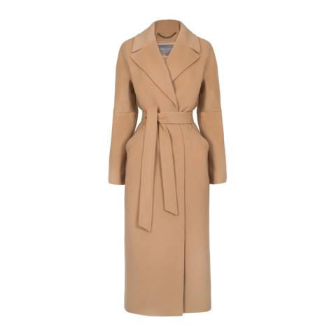 Grace & Oliver Camel Wool and Cashmere Blend Anais Coat