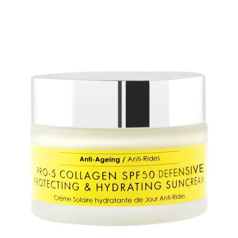 Skinchemists SC Pro-5 Collagen SPF50 DEFENSIVE Anti-Ageing Protecting Hydrating Sun Cream 50ml