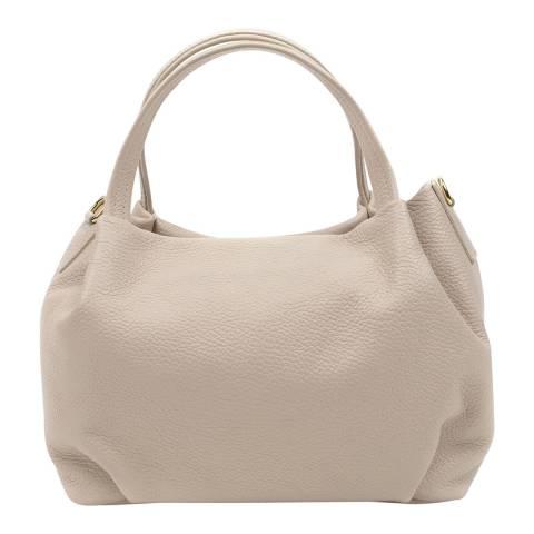 Anna Luchini Beige Leather Tote Bag
