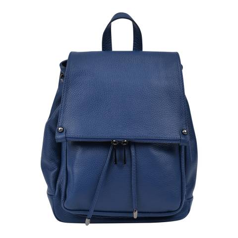 Roberta M Blue Leather Backpack