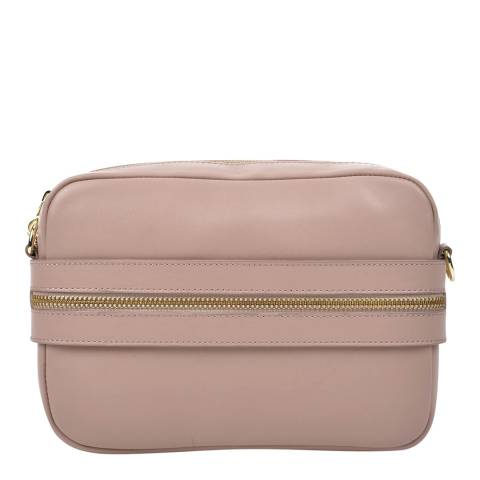 Roberta M Blush Leather Shoulder Bag