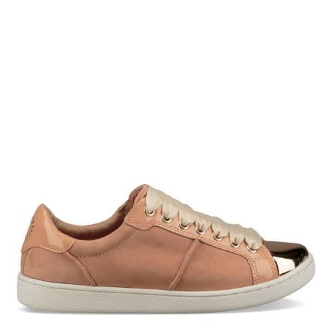 UGG Suntan Nubuck & Patent Leather Evangeline Sneakers