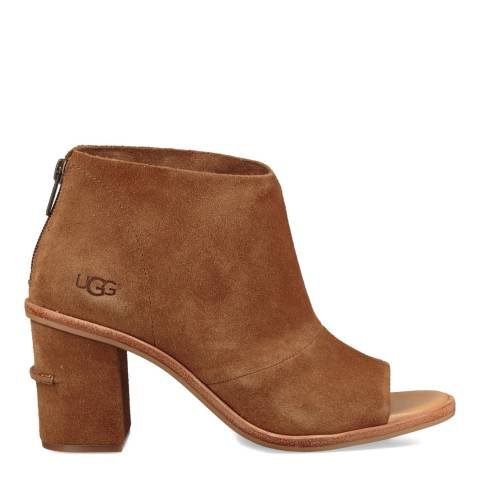 UGG Chestnut Suede Ginger Open Toe Boots