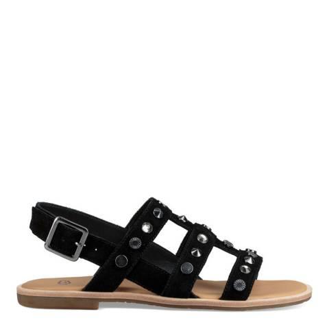 UGG Black Suede Zariah Studded Bling Sandals