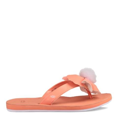 UGG Fusion Coral Poppy Flip Flops