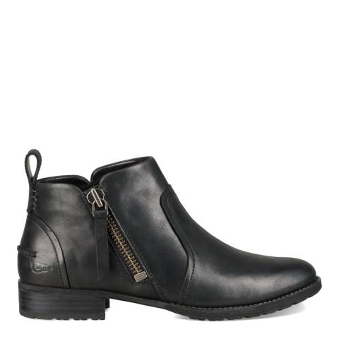 UGG Black Aureo Leather Ankle Boot