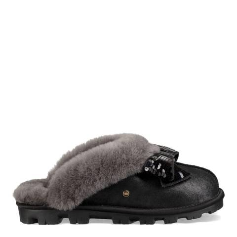 UGG Black Coquette Sequin Bow Slipper