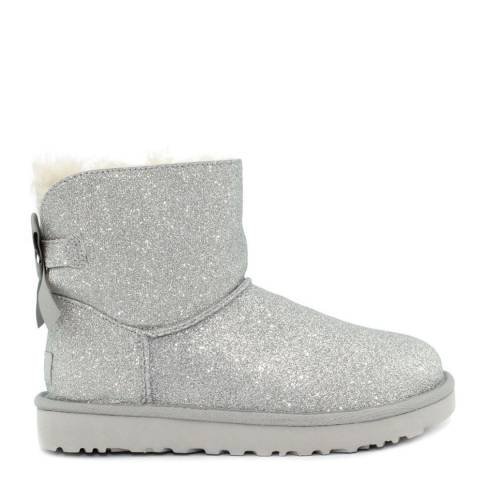 UGG Silver Mini Bailey Bow Sparkle Boot