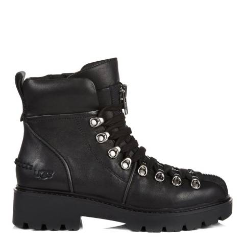 UGG Black Hexa Lace Up Hiker Boot