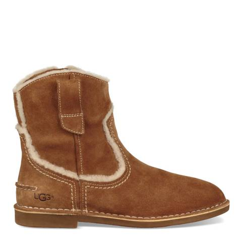UGG Chestnut Catica Western Ankle Boot