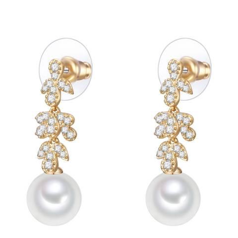 Perldesse Organic White Pearl Drop stud earring