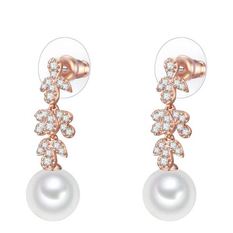 Perldesse Organic Shell Pearl Crystal White Stud Earring 10mm