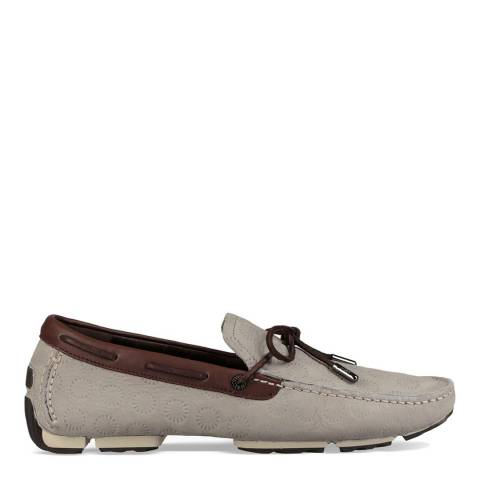 UGG Grey Bel Air Lace Embossed Slip On Shoes