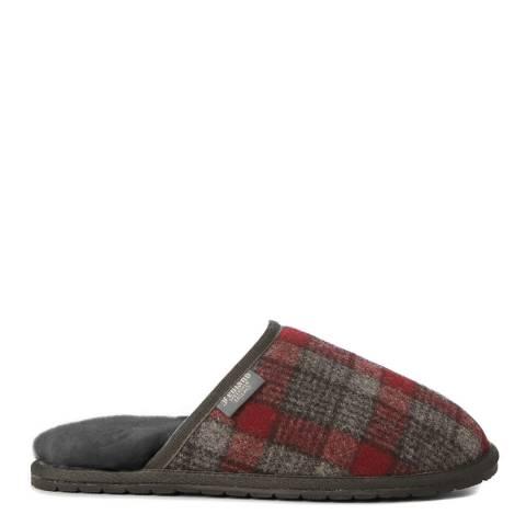Fenlands Sheepskin Men's Tweed Sheepskin Mule Slipper