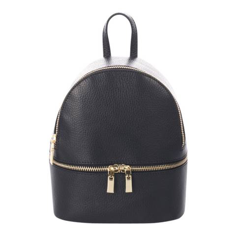 Giorgio Costa Black Leather Backpack Bag
