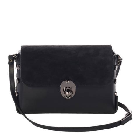 Lisa Minardi Black Leather Stud Shoulder Bag