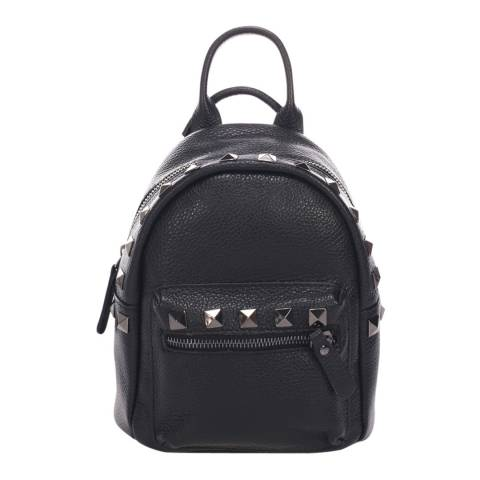 Massimo Castelli Black Leather Backpack