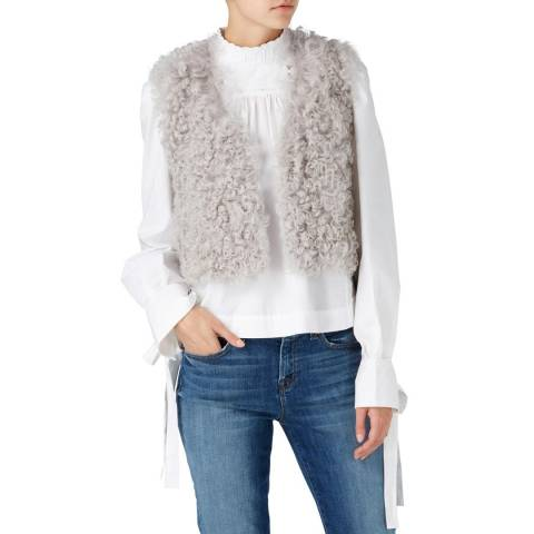 Gushlow & Cole Grey Cropped Shearling Gilet