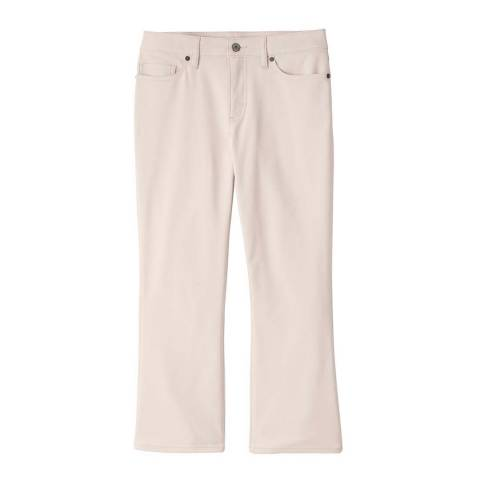 Lands End Oyster Blush Mid Rise Kick Cropped Trousers