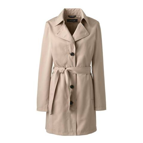 Lands End Swiss Milk Harbour Trench Coat