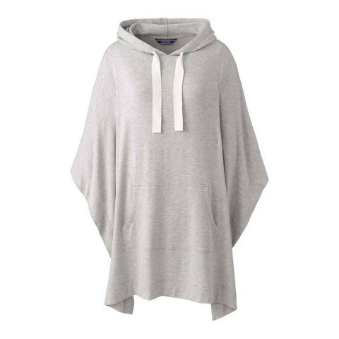 Lands End Classic Grey Heather French Terry Hooded Poncho