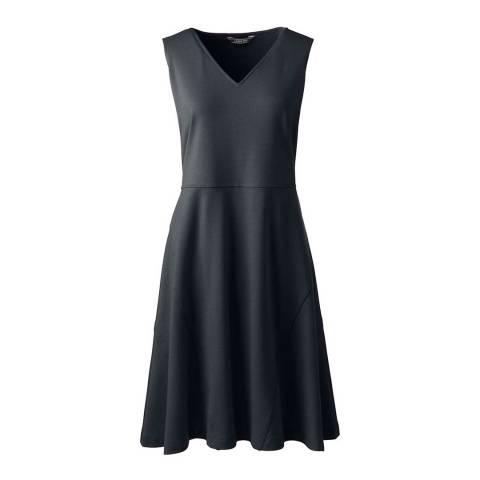 Lands End Black Sleeveless Ponte Jersey Dress