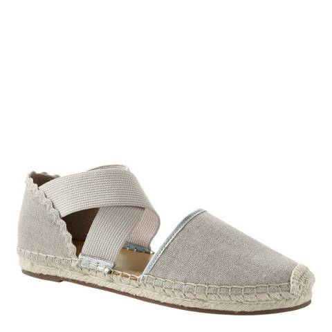 Lands End Silver Beech Cross-strap Espadrille Sandals