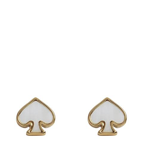 Kate Spade Cream/Multi Signature Spade Stud Earrings