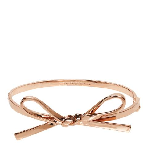 Kate Spade Rose Gold Skinny Mini Bow Bangle