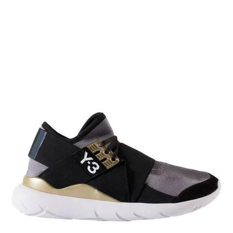 adidas Y-3 Metallic Silver Y-3 Qasa Elle Lace Sneakers