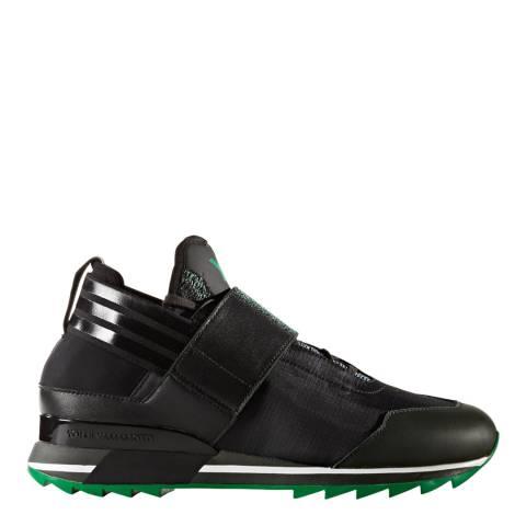 adidas Y-3 Black & Green Luminous Y-3 Qasa Elle Lace Sneakers