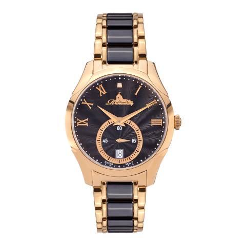 Richtenburg Women's Redgold Black Stainless Steel Quartz Watch